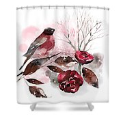 Spring Rests In The Heart Of Winter Shower Curtain