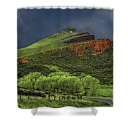 Spring Storm At Milepost 84 Shower Curtain