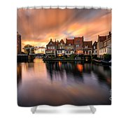 Spring Sunset In Enkhuizen Shower Curtain