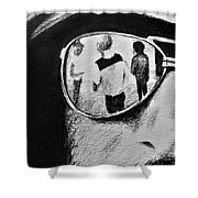 Springsteen Reflection Shower Curtain