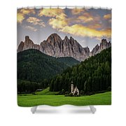St Johann Sunrise Shower Curtain by James Billings
