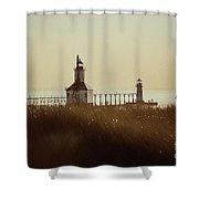 St. Joseph Lighthouse - Digital Pencil Shower Curtain