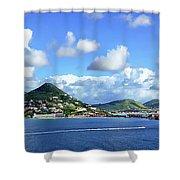 St. Maarten Panorama Shower Curtain