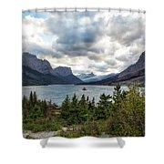 St Mary's Lake And Wild Goose Island Shower Curtain by Belinda Greb