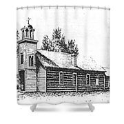 St. Mary's Mission, Stevensville, Montana Shower Curtain