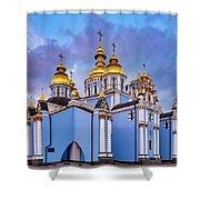 St. Michael's Golden-domed Monastery Shower Curtain