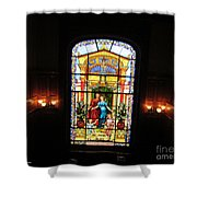 Stained Glass At Moody Mansion Shower Curtain