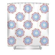 Starburst Pattern Shower Curtain