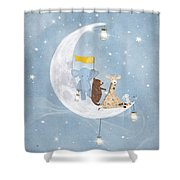 Starlight Wishes With You  Shower Curtain