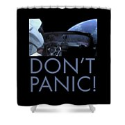 Starman Don't You Panic Now Shower Curtain