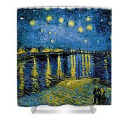 Starry Night - Digital Remastered Edition Shower Curtain