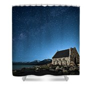 Stars And Midnight Blue Shower Curtain