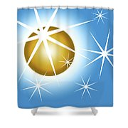 Stars And Sphere Shower Curtain