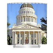State Of California Capitol Building 7d11736 Shower Curtain