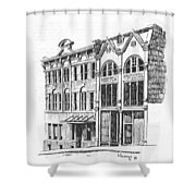 State Publishing And Parchen Building Helena Montana Shower Curtain