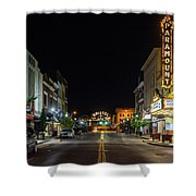 State Street With The Newly Lit Bristol Sign Shower Curtain
