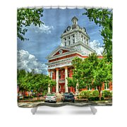 Stately Elegance Morgan County Court House Madison Georgia Art Shower Curtain