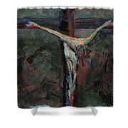 Station 12 Jesus Dies On The Cross Shower Curtain