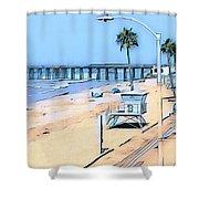 Station 3 Oceanside California Shower Curtain