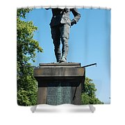 statue In memory of Gallant Soldier Lt. Col. George Elliott Bens Shower Curtain