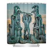 Statue Of Heracles The Hero Shower Curtain