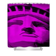 Statue Of Liberty In Purple Shower Curtain