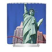 Statue Of Liberty Replica In Las Vegas Shower Curtain