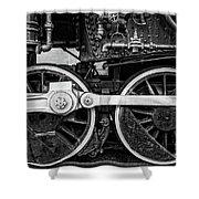 Steam Locomotive Detail Shower Curtain