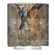 Steampunk Angel  Shower Curtain
