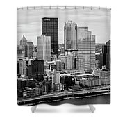Steel City Skyline Shower Curtain