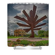 Steel Palm - Peace River Botanical And Sculpture Gardens Shower Curtain