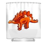 Stegosaurus Cartoon Shower Curtain