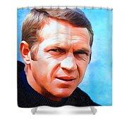 Steve Mcqueen, Portrait Shower Curtain