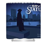 Stevie Ray Vaughan Statue Shower Curtain