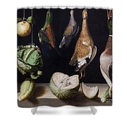 Still Life With Game Fowl Shower Curtain