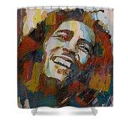 Stir It Up - Retro - Bob Marley Shower Curtain