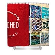 Stitched Quilting Exhibit Shower Curtain