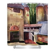 Stone Barns Courtyard Shower Curtain