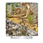 Stone Stacking Shower Curtain