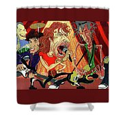 Stones On Stage - The Rolling Stones Shower Curtain