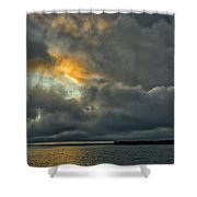 Storm Approaches At Sunset Shower Curtain