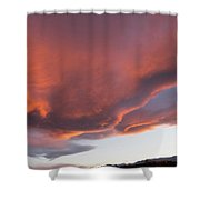 Storm At Sunset, North America Shower Curtain