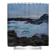 Storm At The Norwegian Coastline Shower Curtain