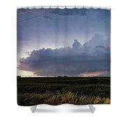 Storm Chasing West South Central Nebraska 048 Shower Curtain