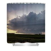 Storm Chasing West South Central Nebraska 050 Shower Curtain