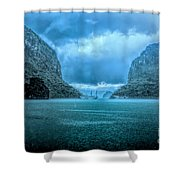 Storm Clouds Invade Ha Long Bay Blue Rain  Shower Curtain