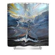 Storm Creators Beaufort Sea Shower Curtain