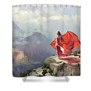 Storm Maiden Shower Curtain by Steve Henderson