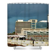 Storm Over Union Station Shower Curtain