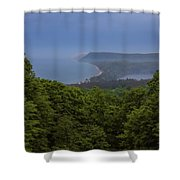 Stormy Day On Sleeping Bear Dunes Shower Curtain
